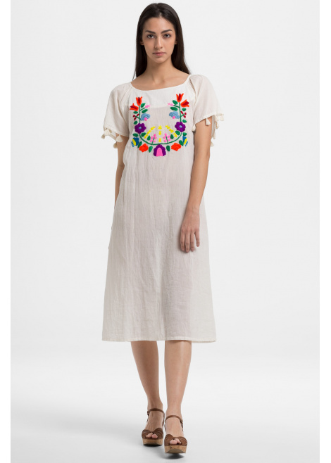 Vestido bordado lana HAPPY HIPPIE