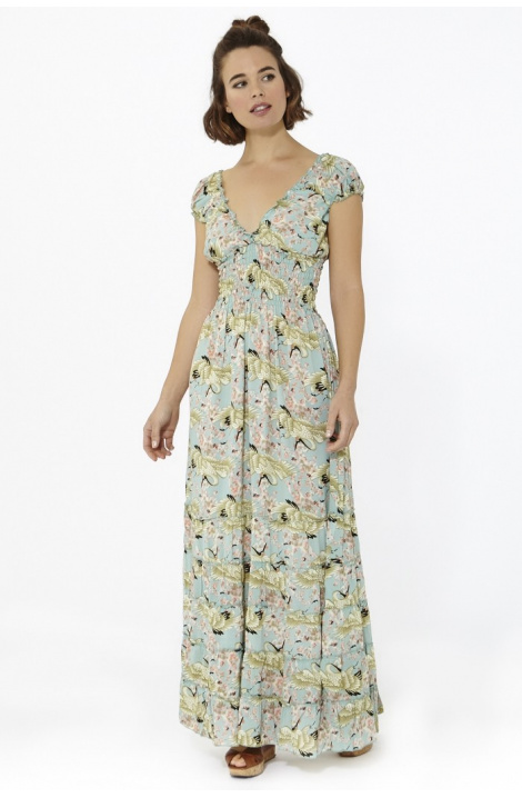 vestido largo frida london print celeste happy hippie boho estampado matilda